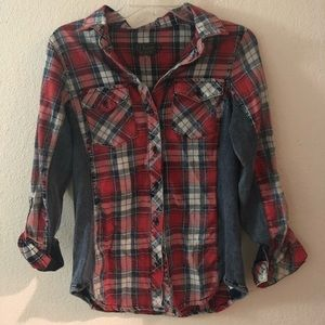 Tops - Red and blue Flannel